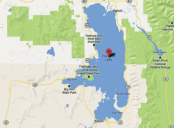 Flathead Lake Map Images