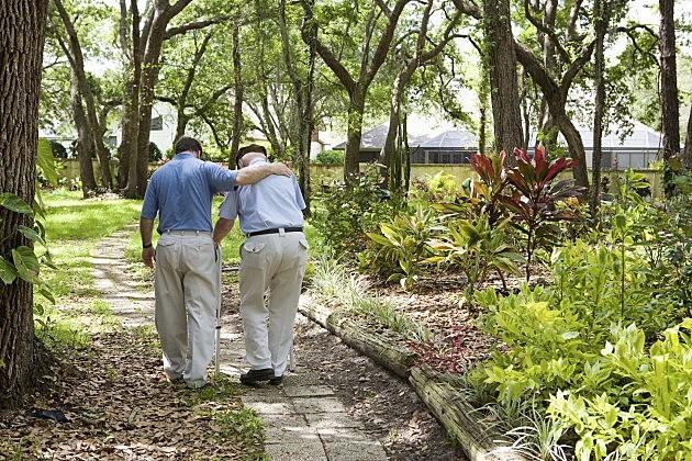 Men walking together