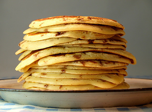 Stack Of Drop Scone Or Scotch Pancakes