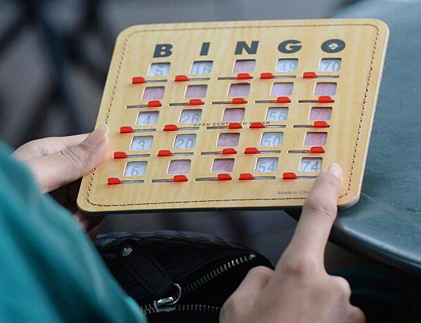 'Bingo' day at the Bryant Park, NY